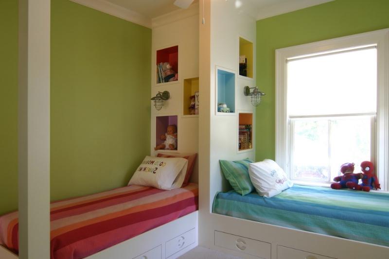Детская комната для двоих детей варианты планировки и